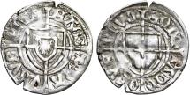 World Coins - Teutonic Knight's Order. G-Master Paul von Russdorf (1422-1441). Silver Shilling. Choice VF