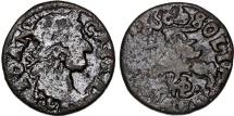 World Coins - Lithuania. G-Duke John II Casmir (1648-1668). Copper Solidus 1666. VG, unclean