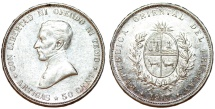 World Coins - Uruguay. Republic. Silver 50 Centesimos 1917. Nice Choice XF/AU