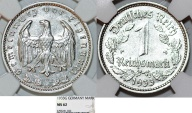 World Coins - Germany. Third Reich. Ni Reichsmark 1933 G. NGC MS62