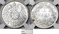 World Coins - Germany Empire. Wilhelm II (1888-1918). Silver 1 Mark 1902 A. NGC MS64 ,scarcce date