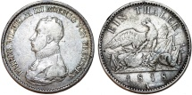 "World Coins - Germany. Prussia. Wilhelm III (1797-1840). Silver ""Military"" Thaler 1818 A. ABout XF/ XF, toned."