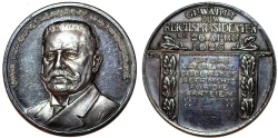 """World Coins - Germany: Nice AR Medal 1925 """" On the election of Paul von Hindenburg as the second president of Germany"""" Choice AU"""