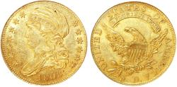 Us Coins - USA. Capped Bust Gold $5 1808. NGC MS60!- OLD slab