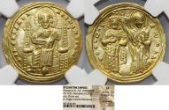 World Coins - Byzantine Empire. Romanus III Argyrus (1028-1034). Gold Histamenon Nomisma.  XF - NGC MS 5/5 – 3/5