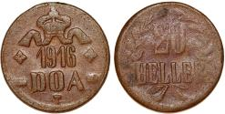 World Coins - German East Africa (Tanzania) . Copper 20 Heller 1916 T. About  VF