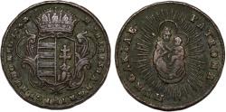 World Coins - H.R.E. Hungary. M. Theresa (1740-1780) Cu 1 Denar 1763. Good VF