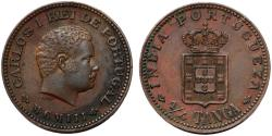 World Coins - India. Portugese colonial Issue. AE 1/4 Tanga 1903. Choice XF