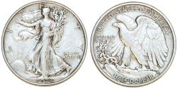 Us Coins - USA. Walking Liberty Half Dollars 1938-D. VF