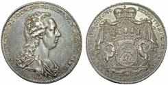 World Coins - Austria. Hungarian Family State of Batthyani. Ludwig (1788-1806). Silver Half Thaler 1789. Choice XF, RARITY!