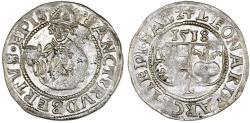 World Coins - Salzburg as part of H.R.E. Leonhard von Keutschbach (1495-1519). Silver Batzen 1518 L. Good VF