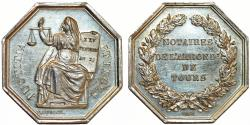 World Coins - France. 19TH CENTURY NOTARIES (SOLICITORS AND ATTORNEYS) Notaires de Tours N.D. AU+