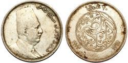 World Coins - Kingdom of Egypt. Faud I (1922-1952). Silver 20 Piastre 1923. Choice VF.