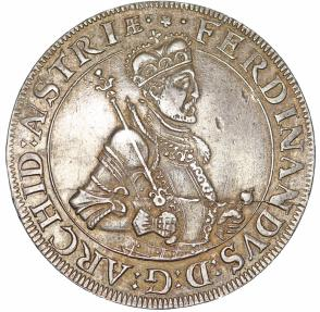 World Coins - Austria. H.R.E. Tyrol. Arch Duke Ferdinand (1564-1595). AR Thaler ND. Choice VF