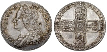 World Coins - Great Britain. George II (1727-1760). Silver 6 Pence 1758. Nice  XF