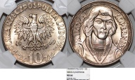 World Coins - Poland PRL. CuNi 10 Zloty 1969. N. Copernicus. NGC MS66!