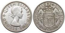 World Coins - British Southern Rhodesia. CuNi ½ Crown 1954. XF