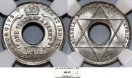 World Coins - British West Africa. George V. 1/10 Penny 1911. NGC MS65