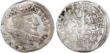 World Coins - Poland. Rzeczypospolita. Poznan. king Sigismund III. AR 3 Gross 1593, VF.