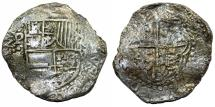 World Coins - Bolivia. Shipwreck recovered 8 reales from Atocha 1622, Grade II with Cetificate.