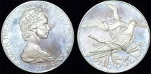 World Coins - British Virgin Islands. Queen Elizabeth II (1952- ). Silver Dollar 1977. Proof