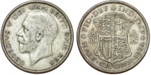 World Coins - Great Britain. king George V. AR Half Crown 1934. Toned VF