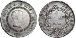 World Coins - SPAIN, Reino de España. Fernando VII. 1808-1833. Silver 10 Reales 1821, Madrid. Good VF