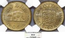 World Coins - Greenland. Scarce in grade 50 Ore 1926 HCN GJ. NGC MS64