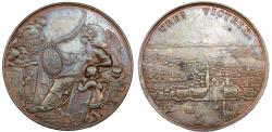 World Coins - Italy. Venice, Francesco Morosini (1618-1688-1694), Victories against the Turks in Morea. AE Medal 1686. VF, RARE!