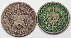 World Coins - Cuba. Republic. Lot of 2 Coins. VF+