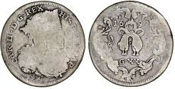 World Coins - Italy. Naples under Spain. Charles II of Spain (1665-1700). Scarce AR 20 Grani 1699. AVF