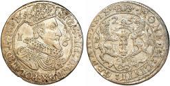 World Coins - Poland. City of Danzig. Sigismund III (1587-1632). Silver 1/4 Taler 1625. VF+