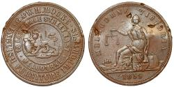 World Coins - Australia. Melbourne Penny Token 1859. G and WH Rocke, English Furniture Importers. XF Details