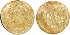 World Coins - Netherlands. Province of Campen. Gold Rose- Half Noble (1600-1602). NGC AU details