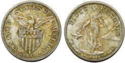 World Coins - Philippines. USA administration. AR 50 Centavos 1919 S. XF