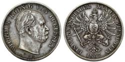 World Coins - Germany. Prussia. Wilhelm IV (1840-1861). Silver Thaler 1867 A. Choice VF/XF