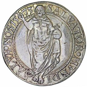 World Coins - Sweden: Johan III (1568–1592). AR Riksdaler 1573/69. Nice VF, toned. RARE!