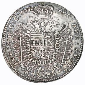 World Coins - H.R.E. Austria. Vienna. Ferdinand III (1637-1657). Silver 1/2 Taler 1656 HS. VF