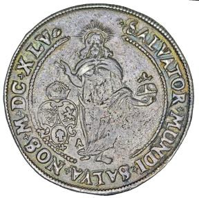 World Coins - Sweden. Queen Christina (1632-1654) RARE AR Riksdaler 1645. VERY Nice XF, toned
