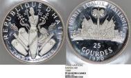 World Coins - Haiti. Silver Commemorative Series 25 Gourdes 1970. NGC PF66 UC.