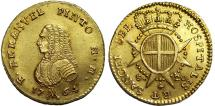 World Coins - MALTA, Sovereign Military Order of Malta. Manuel Pinto da Fonseca. Grand Master (1741-1773). AV 20 Scudi 1764. UNC