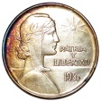 "World Coins - Cuba. Republic. Silver 1 ""ABC"" Peso 1934.  AU, toned"