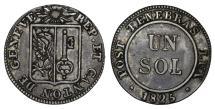World Coins - Swiss Cantons. BI 1 Sol 1825. VF