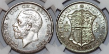 World Coins - Great Britain. king George V. AR Half Crown 1927. NGC PF64