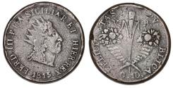 World Coins - Italy. Sicily. Ferdinando III. CU 10 Grani 1815. Fine, Rare