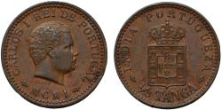 World Coins - Portuguese India.Colonial Issue AE 1/8 Tanga 1901. Nice Choice XF