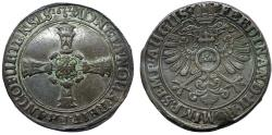 World Coins - Germany. City of Frankfurt as part of HRE. AR Taler 1622. Bold VF, toned