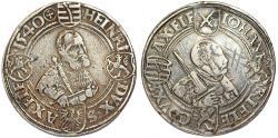 World Coins - Germany: SAXE-ERNESTINE LINE: Johann Friedberg I (1532-1547) AR thaler 1540. VF