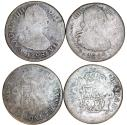World Coins - Spainish Colonial issue of Mexico. Lot of 2 coins 2 Reales 1798 and 1804. Good