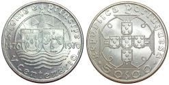 World Coins - St. Thomas and Prince as Portuguese Colony. AR 50 Escudos 1970. Choice UNC